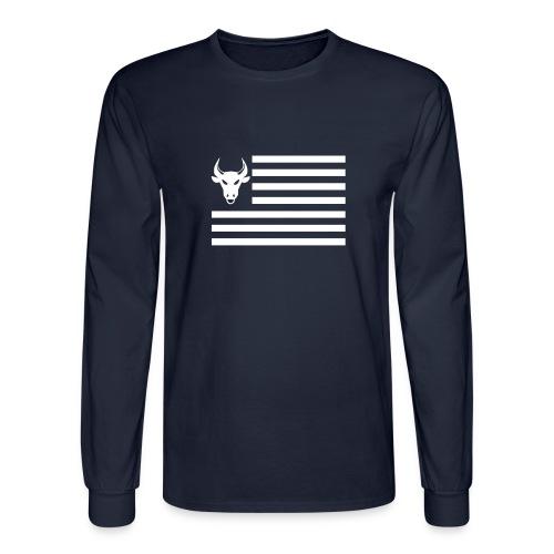 PivotBoss Flag White - Men's Long Sleeve T-Shirt