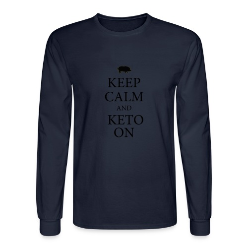 Keto keep calm2 - Men's Long Sleeve T-Shirt