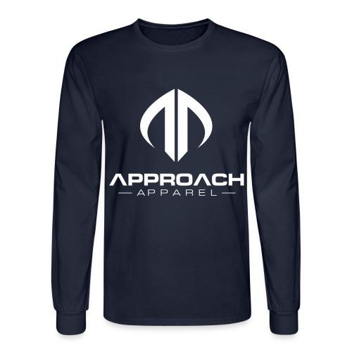Approach Apparel Athletic Hoodie Shirt- White Logo - Men's Long Sleeve T-Shirt