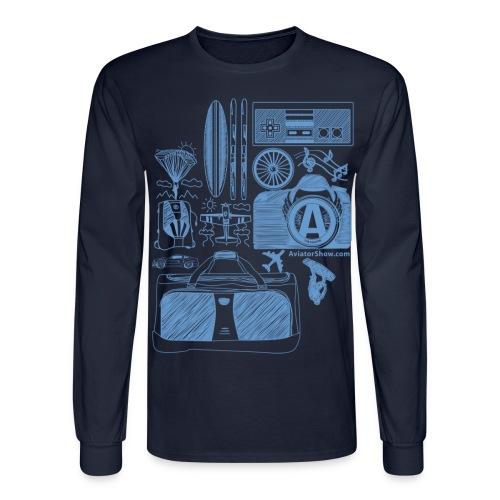 Aviator s World Blue - Men's Long Sleeve T-Shirt