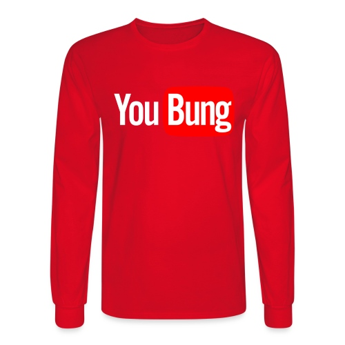 You Bung Logo White png - Men's Long Sleeve T-Shirt