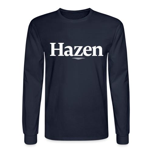 Hazen 20Logo 20white png - Men's Long Sleeve T-Shirt