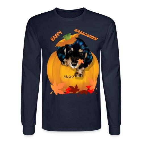 Halloween Dashund Puppy-Boo - Men's Long Sleeve T-Shirt