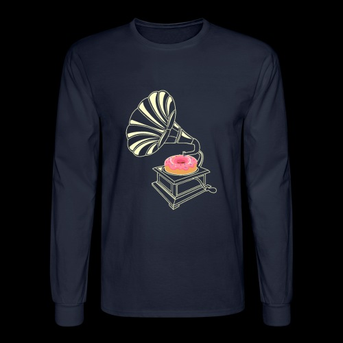 Donut Stop the Music | Sweet Gramophone - Men's Long Sleeve T-Shirt