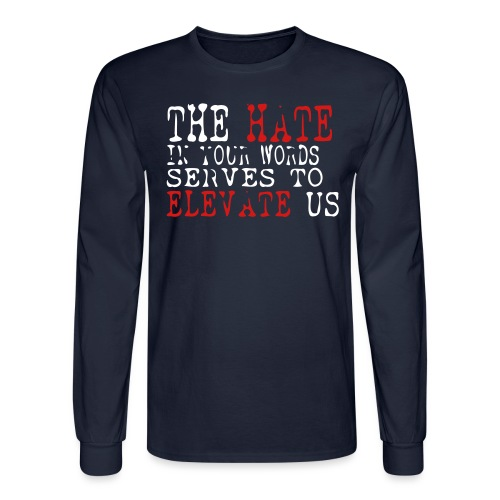 HATE-in-your-words - Men's Long Sleeve T-Shirt