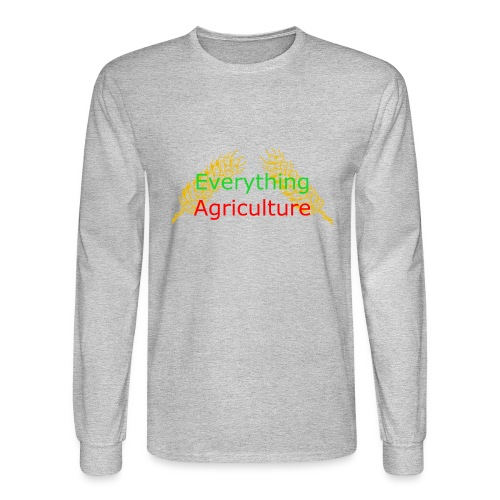 Everything Agriculture LOGO - Men's Long Sleeve T-Shirt