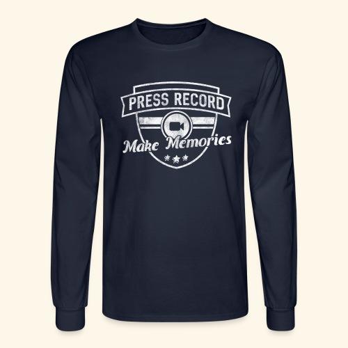 pressrecord_makememories2 - Men's Long Sleeve T-Shirt
