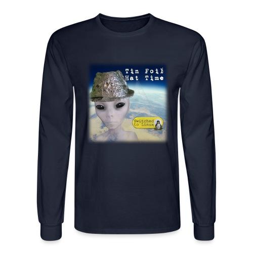 Tin Foil Hat Time (Earth) - Men's Long Sleeve T-Shirt