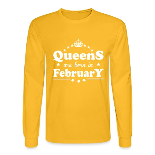 Queens are born in February - Men's Long Sleeve T-Shirt