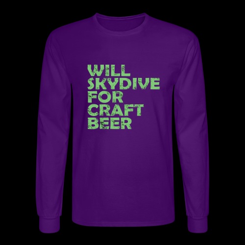 skydive for craft beer - Men's Long Sleeve T-Shirt