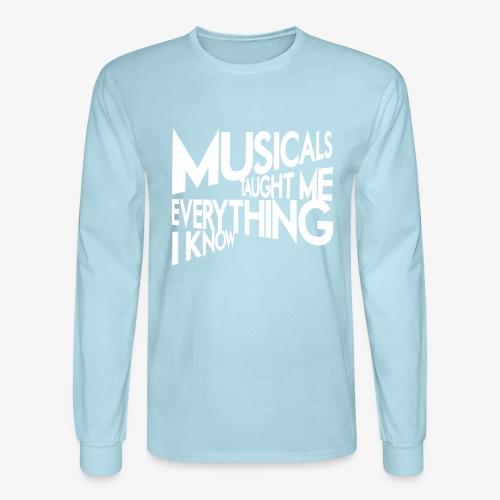 MTMEIK White Logo - Men's Long Sleeve T-Shirt
