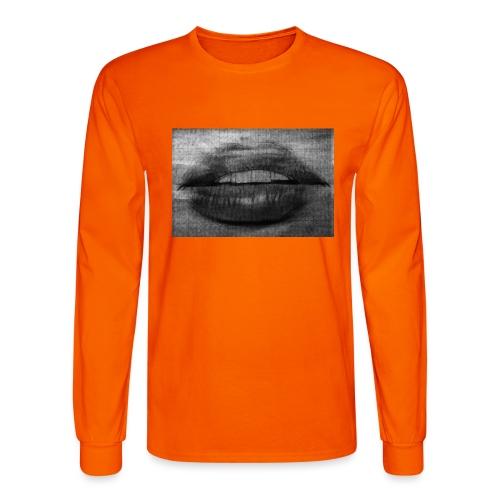 Blurry Lips - Men's Long Sleeve T-Shirt