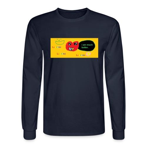 pechy vs apple - Men's Long Sleeve T-Shirt