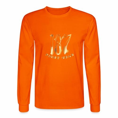187 Fight Gear Gold Logo Street Wear - Men's Long Sleeve T-Shirt