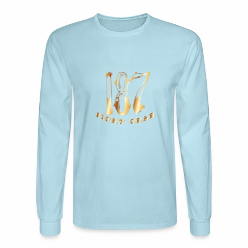 187 Fight Gear Gold Logo Street Wear - Men's Long Sleeve T-Shirt