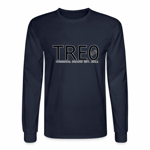 TRE0 Brand Glow White - Men's Long Sleeve T-Shirt