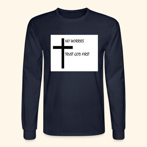 No Worries - Men's Long Sleeve T-Shirt