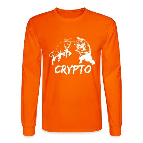 CryptoBattle White - Men's Long Sleeve T-Shirt