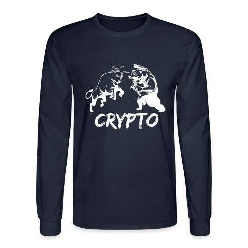 CryptoBattle White - Men's Long Sleeve T-Shirt