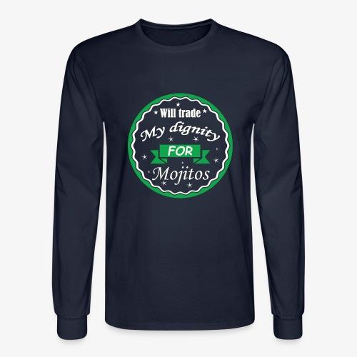 Trade dignity for mojitos - Men's Long Sleeve T-Shirt
