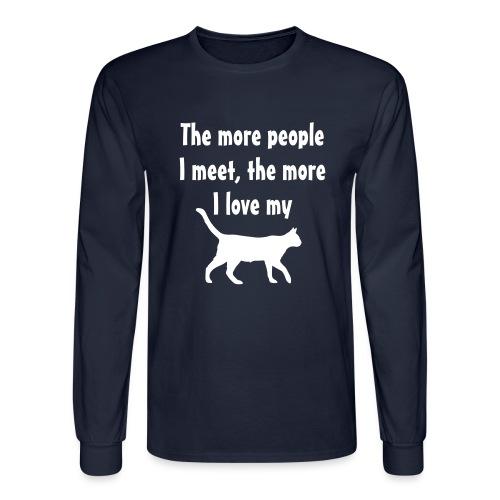 I love my cat - Men's Long Sleeve T-Shirt