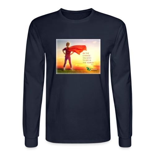 Education Superhero - Men's Long Sleeve T-Shirt