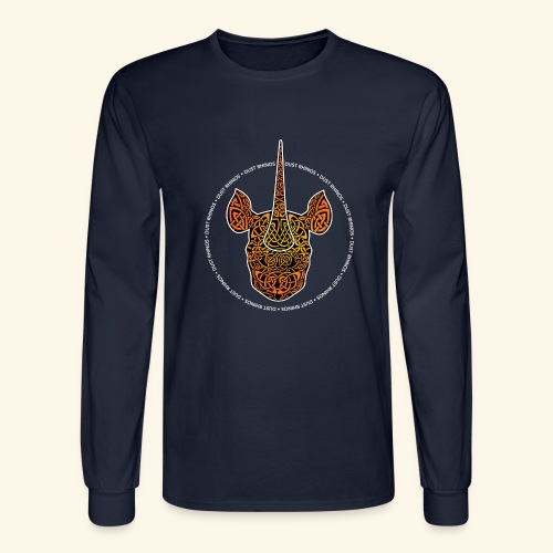 Dust Rhinos Orange Knotwork - Men's Long Sleeve T-Shirt