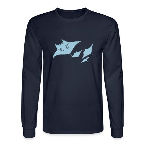 manta ray sting scuba diving diver dive - Men's Long Sleeve T-Shirt