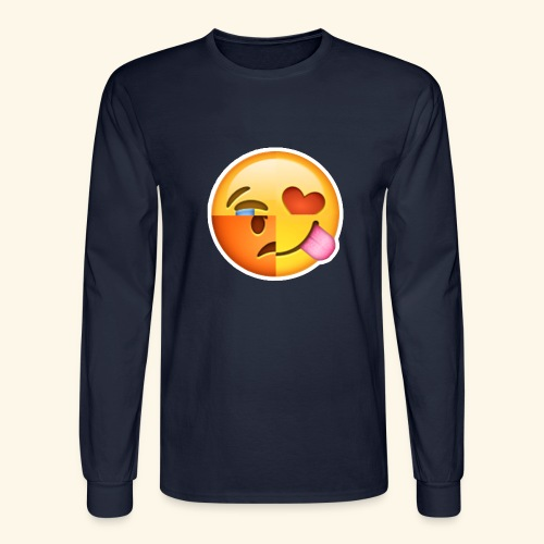 E Tees , Unique , Love , Cry, angry - Men's Long Sleeve T-Shirt