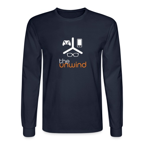 The Unwind (Orange) - Men's Long Sleeve T-Shirt