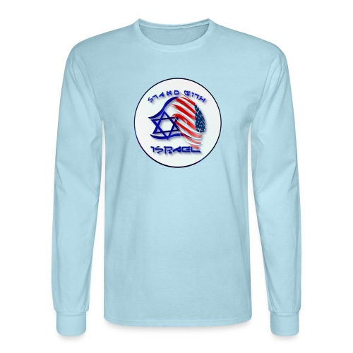 Stand With Israel - lettered Circle - Men's Long Sleeve T-Shirt