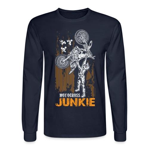 Motocross Junkie - Men's Long Sleeve T-Shirt