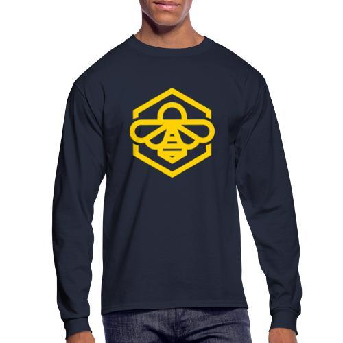 bee symbol orange - Men's Long Sleeve T-Shirt
