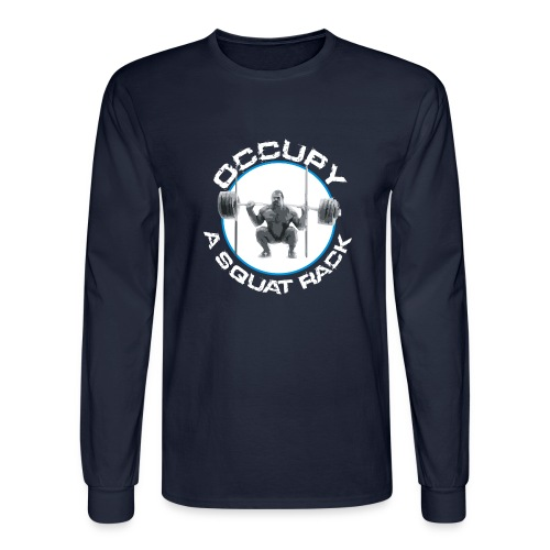 occupysquat - Men's Long Sleeve T-Shirt