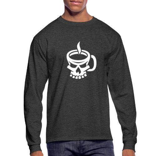 Caffeinated Coffee Skull - Men's Long Sleeve T-Shirt
