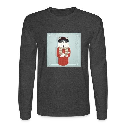 Hispter Dog - Men's Long Sleeve T-Shirt