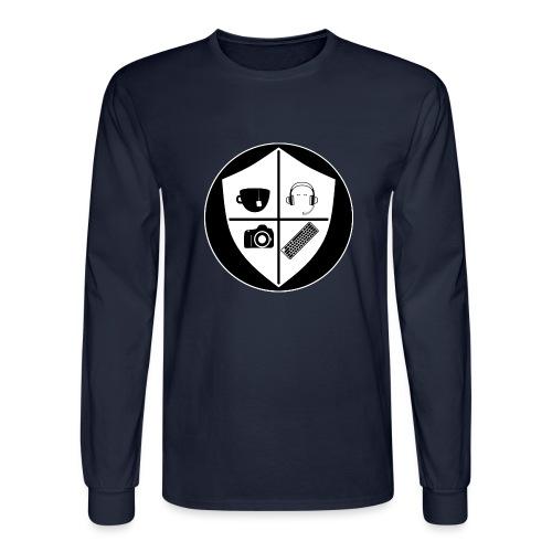 Punk Who Drinks Tea Crest (Inverted) - Men's Long Sleeve T-Shirt