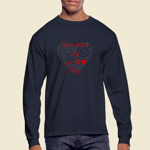 108-lSa Inspi-Shirt-85.b ... for OM-Love Play - Men's Long Sleeve T-Shirt