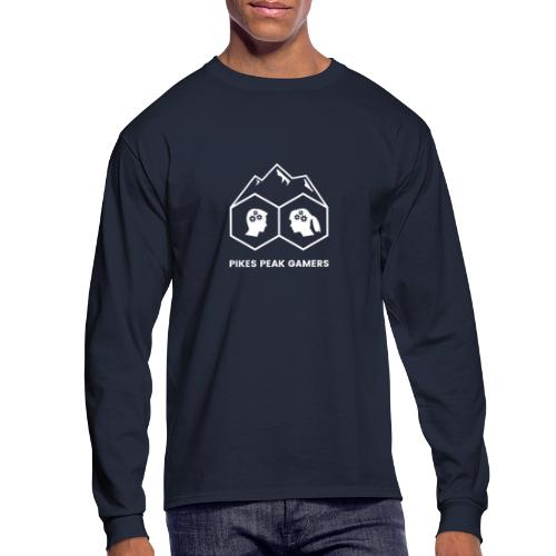 Pikes Peak Gamers Logo (Transparent White) - Men's Long Sleeve T-Shirt