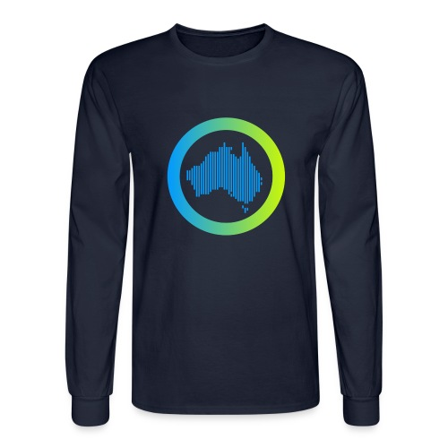 Gradient Symbol Only - Men's Long Sleeve T-Shirt
