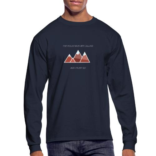 The Mountains - Inverted - Men's Long Sleeve T-Shirt