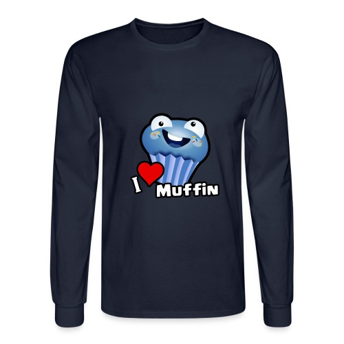 I Love Muffin - Men's Long Sleeve T-Shirt