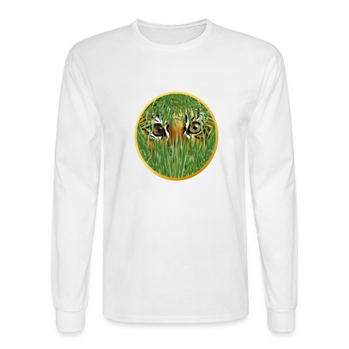Tiger In The Grass - Men's Long Sleeve T-Shirt