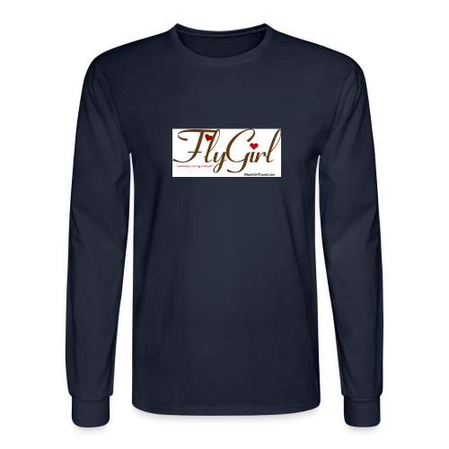 FlyGirlTextGray jpg - Men's Long Sleeve T-Shirt