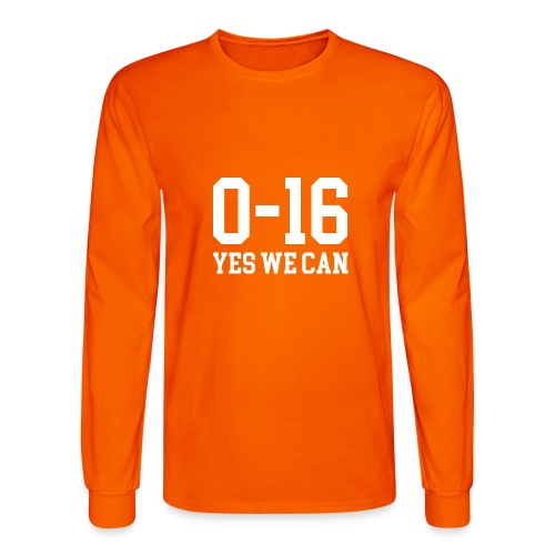 Detroit Lions 0 16 Yes We Can - Men's Long Sleeve T-Shirt