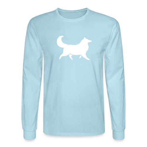 Collie silhouette small - Men's Long Sleeve T-Shirt