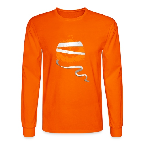 Halloween Bandaged Pumpkin - Men's Long Sleeve T-Shirt