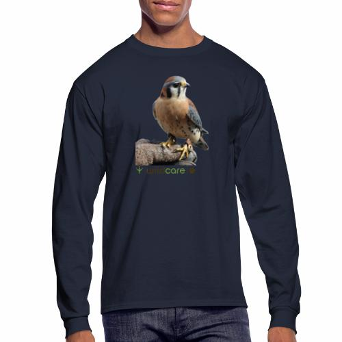 WildCare's non-releasable ambassador Kestrel Kele - Men's Long Sleeve T-Shirt
