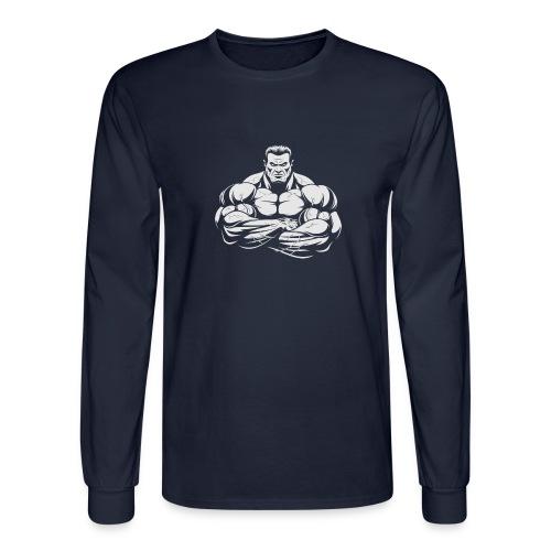 An Angry Bodybuilding Coach - Men's Long Sleeve T-Shirt