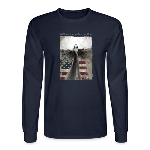 God bless America_design5 - Men's Long Sleeve T-Shirt